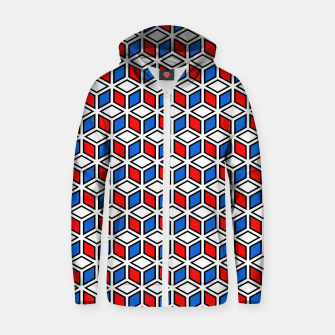Thumbnail image of Isometric Cubic Lines - 12 Cotton zip up hoodie, Live Heroes