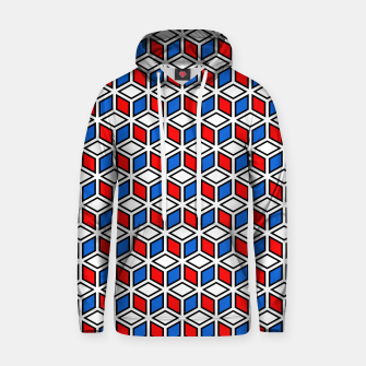 Thumbnail image of Isometric Cubic Lines - 12 Cotton hoodie, Live Heroes