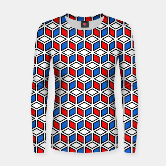 Thumbnail image of Isometric Cubic Lines - 12 Woman cotton sweater, Live Heroes