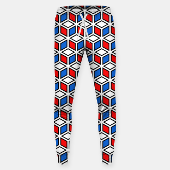 Thumbnail image of Isometric Cubic Lines - 12 Cotton sweatpants, Live Heroes