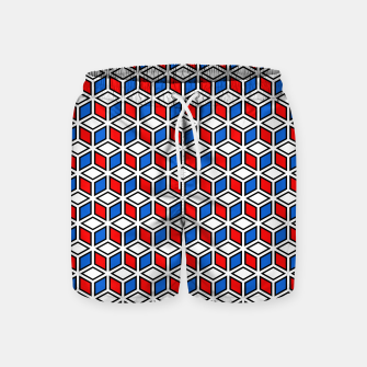 Thumbnail image of Isometric Cubic Lines - 12 Swim Shorts, Live Heroes