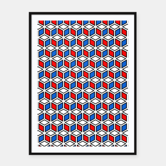 Thumbnail image of Isometric Cubic Lines - 12 Framed poster, Live Heroes
