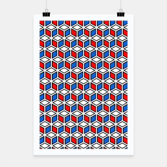 Thumbnail image of Isometric Cubic Lines - 12 Poster, Live Heroes
