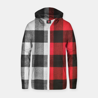 Thumbnail image of Two colors flannel Cotton zip up hoodie, Live Heroes