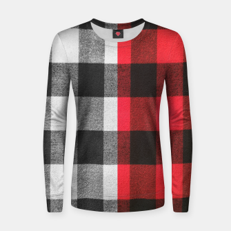 Thumbnail image of Two colors flannel Woman cotton sweater, Live Heroes