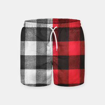 Thumbnail image of Two colors flannel Swim Shorts, Live Heroes