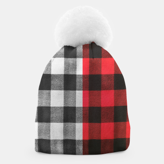 Thumbnail image of Two colors flannel Beanie, Live Heroes
