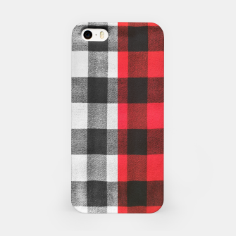 Thumbnail image of Two colors flannel iPhone Case, Live Heroes