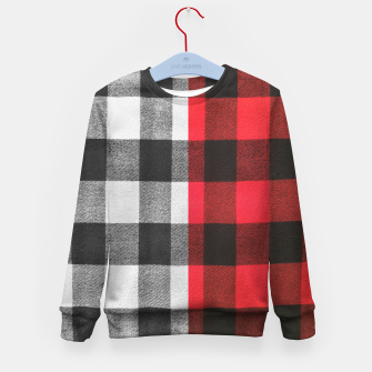 Thumbnail image of Two colors flannel Kid's sweater, Live Heroes