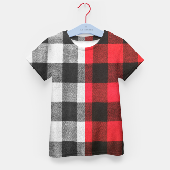 Thumbnail image of Two colors flannel Kid's t-shirt, Live Heroes