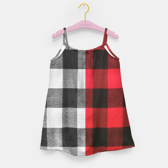 Thumbnail image of Two colors flannel Girl's dress, Live Heroes
