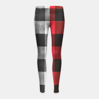Thumbnail image of Two colors flannel Girl's leggings, Live Heroes