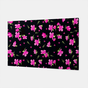 Miniatur Floral Repeat Pattern Canvas, Live Heroes