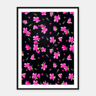 Miniatur Floral Repeat Pattern Framed poster, Live Heroes