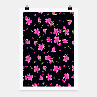 Miniatur Floral Repeat Pattern Poster, Live Heroes