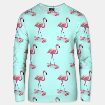 Thumbnail image of Skating Flamingo Cotton sweater, Live Heroes