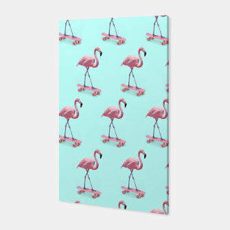Thumbnail image of Skating Flamingo Canvas, Live Heroes