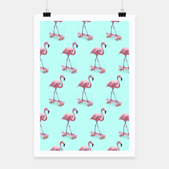 Thumbnail image of Skating Flamingo Poster, Live Heroes