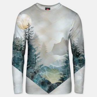 Thumbnail image of Moon Landscape in Mineral Texture on Mother of pearl Cotton sweater, Live Heroes