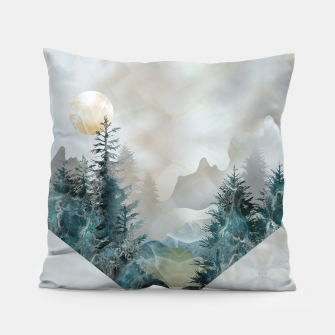 Thumbnail image of Moon Landscape in Mineral Texture on Mother of pearl Pillow, Live Heroes