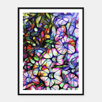 Thumbnail image of Glass Petunias Framed poster, Live Heroes
