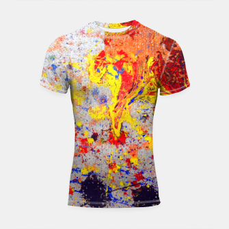 Thumbnail image of Colour Splash Acryl Painting Shortsleeve rashguard, Live Heroes