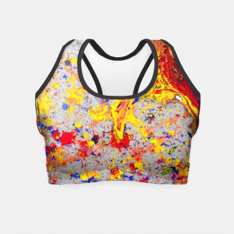 Thumbnail image of Colour Splash Acryl Painting Crop Top, Live Heroes