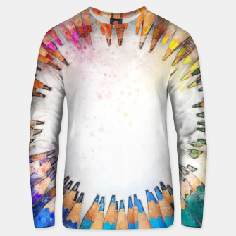Thumbnail image of Pencil Circle Rainbow Art Design Cotton sweater, Live Heroes