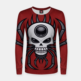 Thumbnail image of Skull Spider Woman cotton sweater, Live Heroes