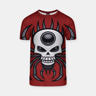 Thumbnail image of Skull Spider T-shirt, Live Heroes