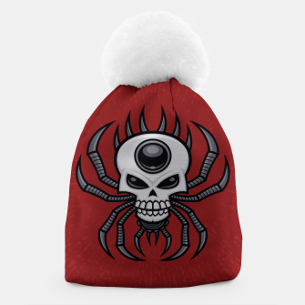 Thumbnail image of Skull Spider Beanie, Live Heroes