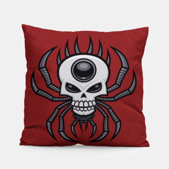 Thumbnail image of Skull Spider Pillow, Live Heroes