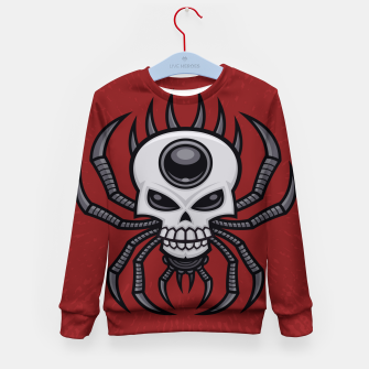 Thumbnail image of Skull Spider Kid's sweater, Live Heroes