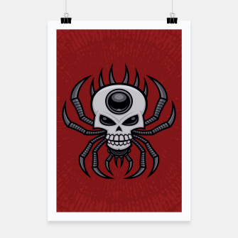 Thumbnail image of Skull Spider Poster, Live Heroes