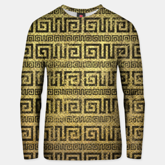 Thumbnail image of Vintage Gold  Greek Meander Pattern  Cotton sweater, Live Heroes