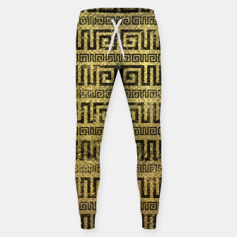 Thumbnail image of Vintage Gold  Greek Meander Pattern  Cotton sweatpants, Live Heroes