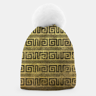 Thumbnail image of Vintage Gold  Greek Meander Pattern  Beanie, Live Heroes