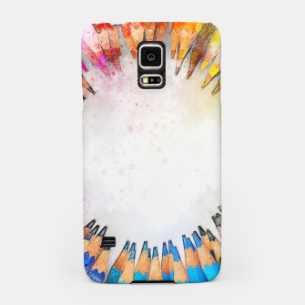 Thumbnail image of Pencil Circle Rainbow Art Design Samsung Case, Live Heroes
