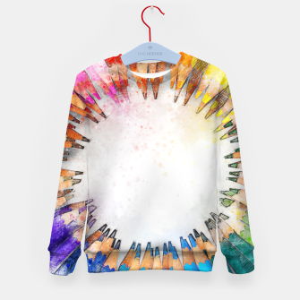Thumbnail image of Pencil Circle Rainbow Art Design Kid's sweater, Live Heroes