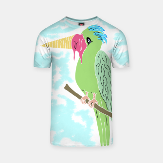 Thumbnail image of Parrot and Ice cream T-shirt, Live Heroes