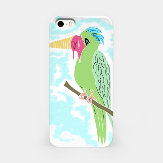 Thumbnail image of Parrot and Ice cream iPhone Case, Live Heroes