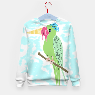 Thumbnail image of Parrot and Ice cream Kid's sweater, Live Heroes