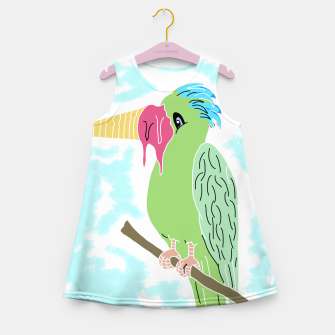 Thumbnail image of Parrot and Ice cream Girl's summer dress, Live Heroes