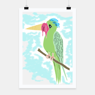 Thumbnail image of Parrot and Ice cream Poster, Live Heroes