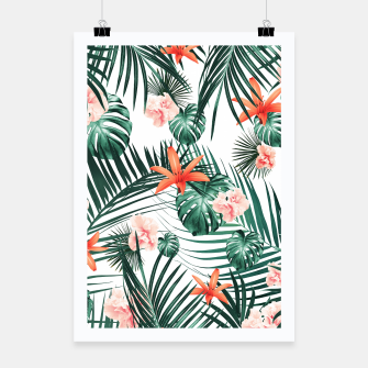 Thumbnail image of Tropical Flowers & Leaves Paradise #2 #tropical #decor #art Plakat, Live Heroes