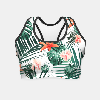 Thumbnail image of Tropical Flowers & Leaves Paradise #2 #tropical #decor #art Crop Top, Live Heroes