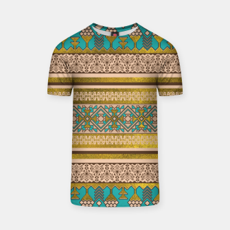 Thumbnail image of Mexican Style pattern - teal, gold and earthy colors T-shirt, Live Heroes