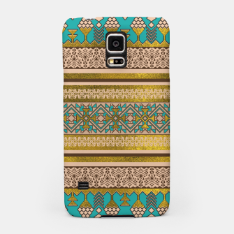Thumbnail image of Mexican Style pattern - teal, gold and earthy colors Samsung Case, Live Heroes