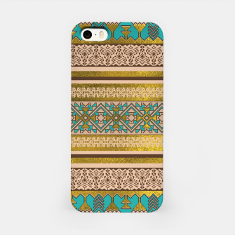 Thumbnail image of Mexican Style pattern - teal, gold and earthy colors iPhone Case, Live Heroes