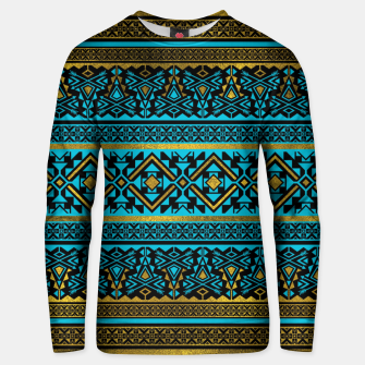 Miniaturka Mexican Style pattern - black, teal and gold Cotton sweater, Live Heroes